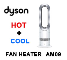 Dyson Hot + Cool Jet Focus AM09 Fan Heater White/Silver (61874-01)